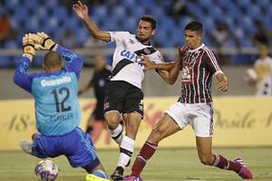 Gilberto teve boa estreia apesar de ter passado em branco no clássico diante do Fluminense crédito: Marcelo Sadio/Vasco.com.br