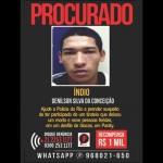 """Foragido: Denílson Silva da Conceição, o """"Índio"""" está sendo procurado pela polícia do Rio (Foto: Reprodução)"""