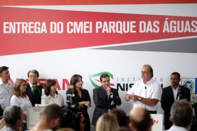 Sociedade: Pezão elogia projeto sustentável da creche-escola e destaca  importância da parceria público-privada (Foto: Felipe Vieira)