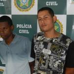 Natan e Hugo durante apresentação na Delegacia de Volta Redonda (Foto: José Roberto Mendonça)