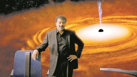 Estrela: Tyson explica a física dos buracos negros. Foto:Divulgação)