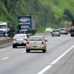 Intenso: Tráfego aumentou nas estradas da região, mas acidentes foram poucos Foto: Felipe Vieira