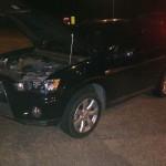 Flagrante: Carro foi apreendido no posto da PRF, na Serrinha de Arrozal (Foto cedida pela PRF)