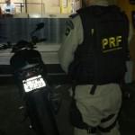Moto apreendida (Foto: Cedida pela Polícia Rodoviária Federal)