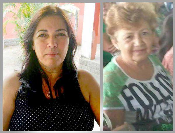 As vítimas Silvana Leni Mulano Dias Barud, de 50 anos, e a direita Irene Rodrigues Martins, de 63 anos