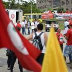 Fotos: Felipe Vieira Protesto: Esquerdistas se manifestam contra a PL 4330