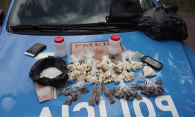 Drogas estavam enterradas em um terreno no Retiro (Foto: cedida pela PM)