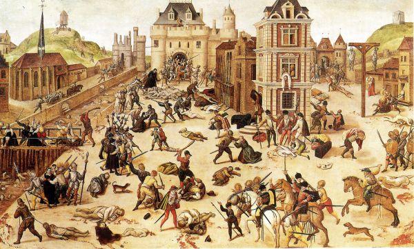 São Bartolomeu: Católicos matam protestantes na França de 1572  Foto: Divulgação