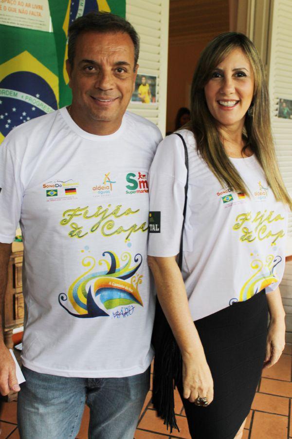 Os empresários Paulo Cezar de Azevedo e Susana Michelstaedter, no Feijão da Copa