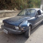 Motorista bateu em carro que estava parado no Caieiras, em Volta Redonda (foto: Divulgação)