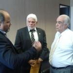 Juntos: Jonas e Zoinho conversam com o ministro dos Transportes, Antonio Carlos Rodrigues