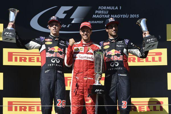 Primeiro: Vettel sobe ao lugar mais alto do pódio em brilhante corrida na Hungria (Divulgação)