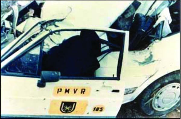 Carro que levava Juarez para Brasília ficou completamente destruído