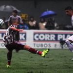 Entorta: Santos foi superior e mereceu a vitória sobre o Fluminense na Vila Belmiro (Foto: Divulgação)