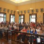 Jogos universitários em pauta: Câmara de Vassouras ficou repleta de pessoas nesta segunda-feira (Foto: Cedida pela prefeitura de Vassouras/Suellem Lopes)