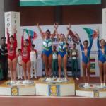 Maria Vitória Moura e Bárbara Bock, ambas na categoria 13 e 14 feminina, conquistaram a medalha de ouro no Trampolim Sincronizado