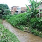Nível do Rio Barra Mansa é monitorado pela Defesa Civil e moradores (foto: Paulo Dimas)