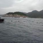 No mar de Angra: Buscas pelos desaparecidos com o uso de mergulhadores foram encerradas na semana passada (Foto: Arquivo/Cedida pelo Corpo de Bombeiros)