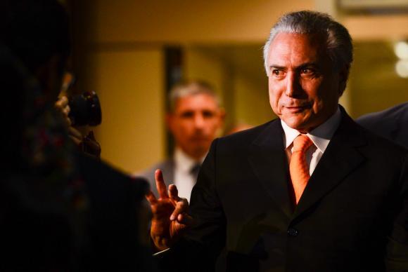 O vice-presidente Michel Temer, após reunião com a presidenta Dilma Rousseff, no Palácio do Planalto (Fabio Rodrigues Pozzebom/Agência Brasil)
