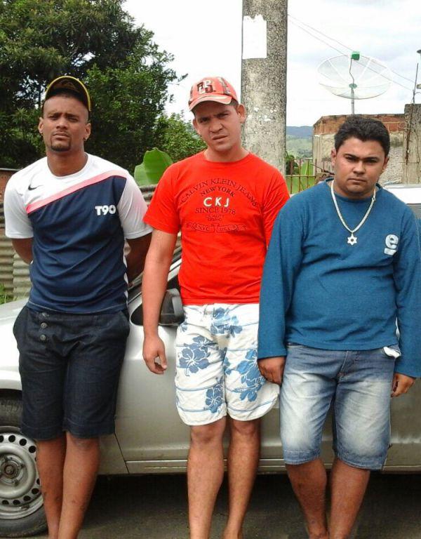 Procurados: (À esquerda) Lucircley e Nathaniel estão desaparecidos desde o crime; Juranir se entregou na quarta-feira(Foto: Cedida pela Polícia Civil)
