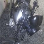 Veículo: Moto Honda CG 150, prata, foi encontrada por policiais depois de uma perseguição ao suspeito (Foto: Cedida pela Polícia Militar)