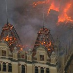 Triste: Incêndio de grandes proporções destruiu o Museu da Língua Portuguesa  (Foto: ABr)