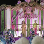 Festejando: Maria Bethânia durante desfile no Carnaval carioca (Foto: ABr)