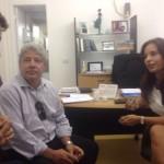 Diálogo: Marcelo Mérida (à esquerda) conversa com Ana Paula Rechuan sobre o pacote fiscal do governo do Estado do Rio