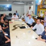 LIRAa: Resultado foi divulgado ontem em entrevista coletiva no gabinete do prefeito Neto, com a presença de representantes de entidades (Foto: Paulo Dimas)