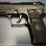 Porte ilegal: Pistola de fabricação turca estava com adolescente de 16 anos, que vinha do Rio de Janeiro (Foto: Cedida pela PRF)