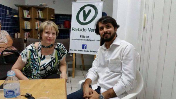Dupla: Samuca e Dayse disputam cabeça de chapa do PV em Volta Redonda