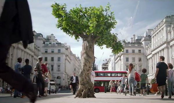 Comercial: A árvore da Unilever não escaparia em Pinheiral (Foto: Divulgação)