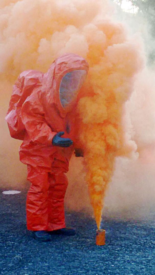 Treinamento: Especialistas em armas químicas ministraram palestras e fizeram simulações de ações de combate à ameaça (Foto: Divulgação)
