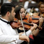 Camerata de Cordas: Músicos da OSBM se unem para interpretar grandes clássicos na sede do Projeto Música nas Escolas  (Foto: Divulgação)