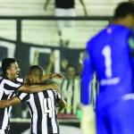 Alegria: Rodrigo Lindoso comemorou o gol que garantiu a vitória e a classificação do Botafogo às semifinais (Foto: Divulgação/Vitor Silva/SS Press /Botafogo)