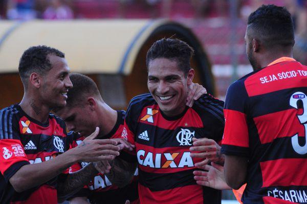 Desencantou: Guerreiro aproveitou bobeada do goleiro adversário, marcou e sorriu novamente (Foto: Paulo Dimas)