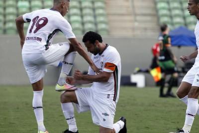 Entrosa: Fred fez o gol mas deu moral aos garotos do Fluminense (Foto: Divulgação)