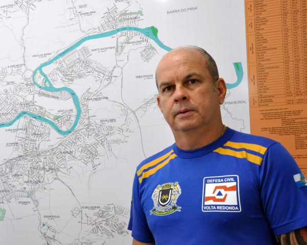 Coordenador da Defesa Civil: Rubens Siqueira explicou que é no alerta que ocorre o pico de ações (Foto: Divulgação PMVR)