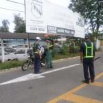 Ação: Na última quinta-feira, agentes estiveram realizando a operação na entrada da Ilha São João, em frente à sede da Guarda Municipal (Foto: Divulgação GMVR)
