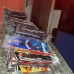 Contra a pirataria: Agentes recolheram CDs e DVDs falsificados em diferentes locais de Volta Redonda (Foto: Cedida pela Guarda Municipal)