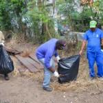 Limpeza: Previsão é que trabalho seja concluído na próxima sexta-feira, dia 13, no trecho central do município (Foto: Divulgação PMBM)