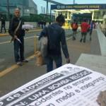 Sindicalistas distribuíram boletim na porta da Usina criticando acidentes na CSN (foto: Assessoria Sindicato dos Metalúrgicos)