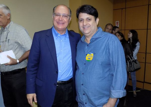 Aprendizado: Geraldinho do Gelo assistiu a palestra de Alckmin