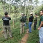 Em áreas de preservação: Ações foram deflagradas após denúncias de desmatamentos, queimadas e construções irregulares (Foto: Divulgação PMR)