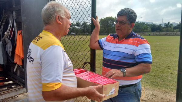 Contente: O massagista Parraro vibrou com o retorno do médico ortopedista Reinaldo Couri