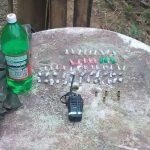 Droga é abandonada por bandidos após troca de tiros com a policia (foto: Cedida pela PM)
