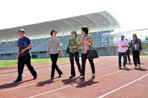 Arena Esportiva de Volta Redonda está em fase final de construção e foi visitada pelos representantes da delegação chinesa (Foto: Divulgação PMVR)