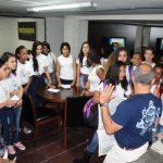 Visita: Alunos do Colégio Municipal José Botelho de Ataíde conheceram como funciona o dia a dia do DIÁRIO DO VALE (Foto: Paulo Dimas)