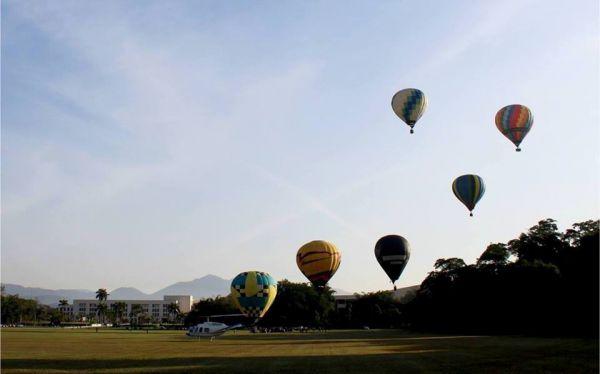Cheio de cores: Junto à Aman, balões fizeram parte da paisagem de Resende neste fim de semana (Foto: Divulgação PMR/João Saboia)