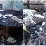Em cinzas: Móveis, eletrodomésticos, alimentos foram perdidos durante o incêndio ocorrido no último domingo (Foto: Reprodução Facebook)